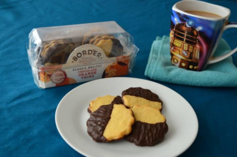 Border biscuits chocolate orange thins