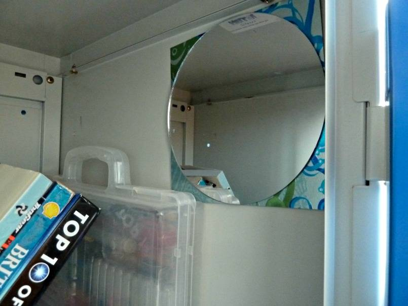 Add a mirror to a school locker
