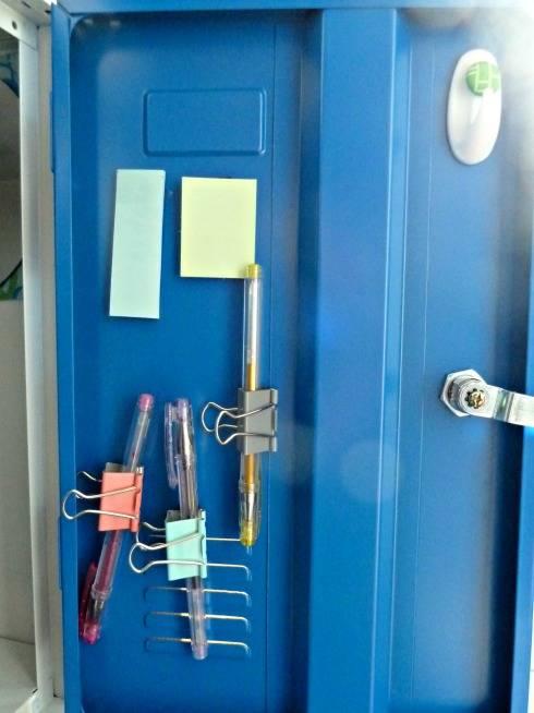 using bulldog clips for school locker storage