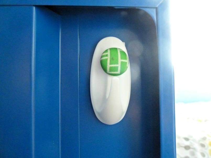 A useful hook added inside a school locker for storing keys