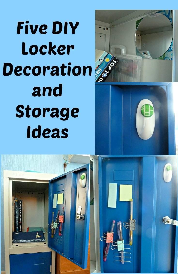 Five DIY locker decoration and storage ideas