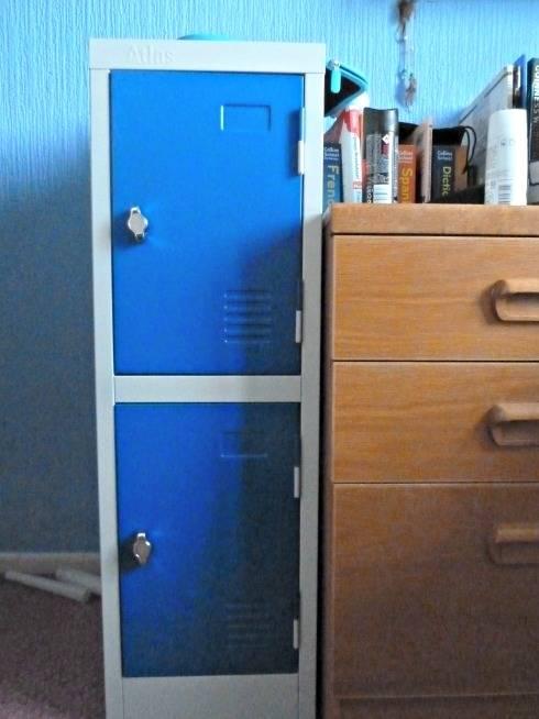 School locker before decoration
