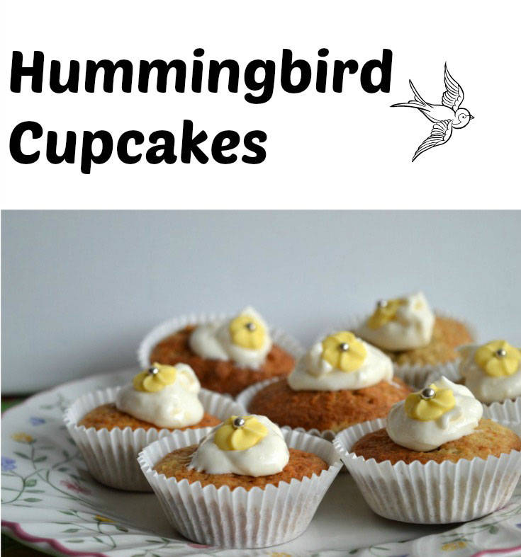 Hummingbird cupcakes - made from banana and crushed pineapple, the perfect cake for Spring