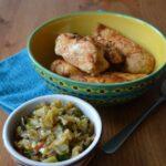 Garlic lemon chicken with celery salsa