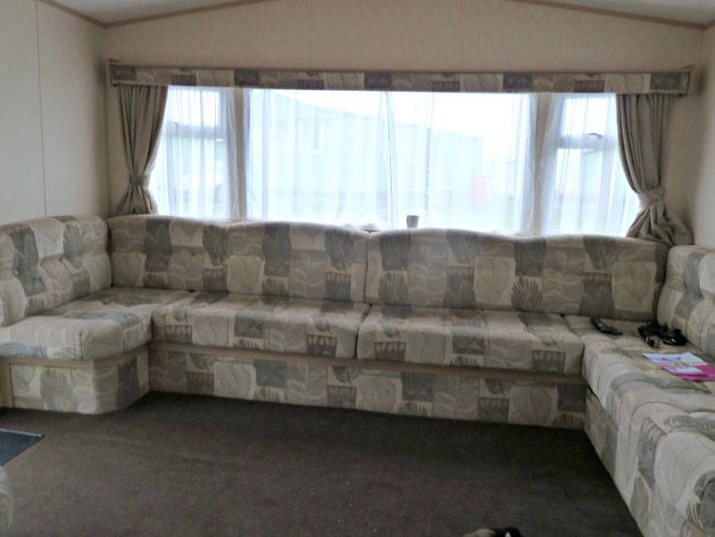 The lounge of a Macdonald caravan at Parkdean wemyss bay