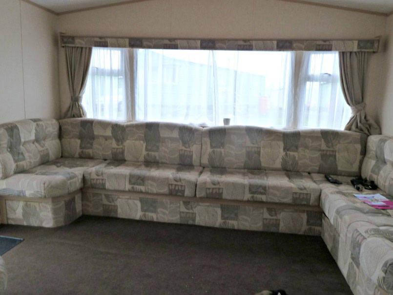 The lounge of a Macdonald caravan at Parkdean wemyss bay
