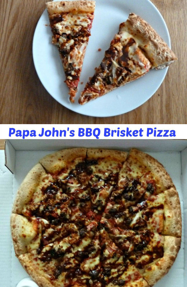 BBQ Brisket Pizza a new pizza from Papa Johns