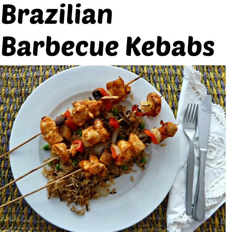Brazilian barbecue kebabs