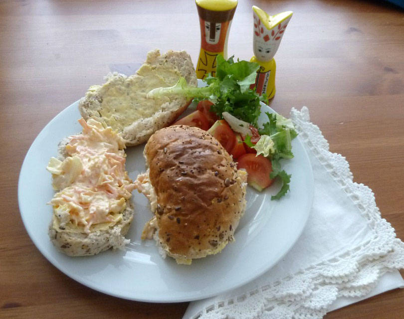 The cheese savoury sandwich is a regional recipe found in North East England.