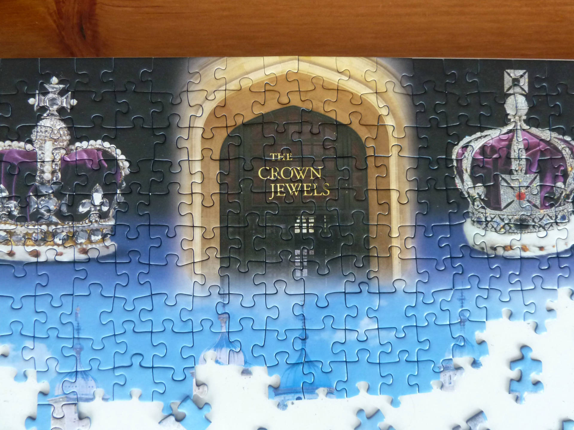 Crown Jewels on Tower of London Ravensburger puzzle
