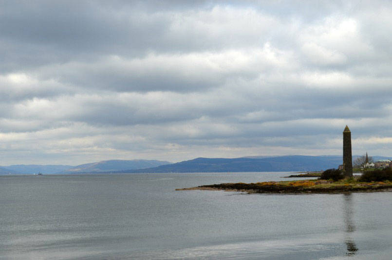 View from coast near Largs