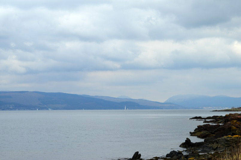 Coastline on the way to Largs in Scotland