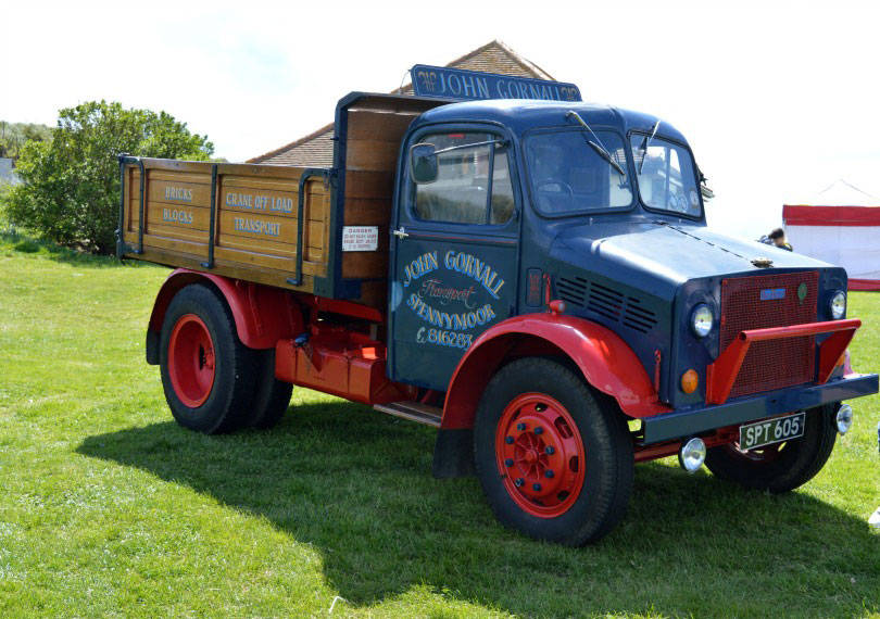 Vintage truck at Blyth goes to war event