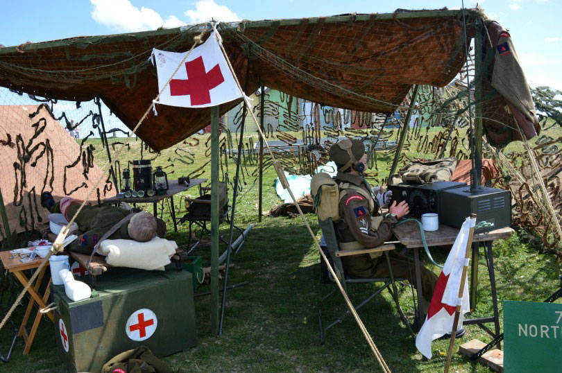 Radio tent at Blyth goes to war event