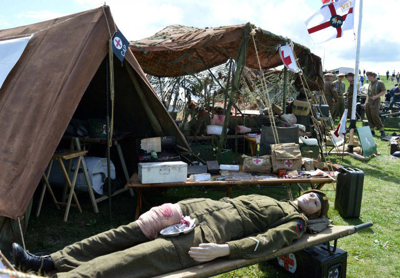 hospital tent at Blyth goes to war event