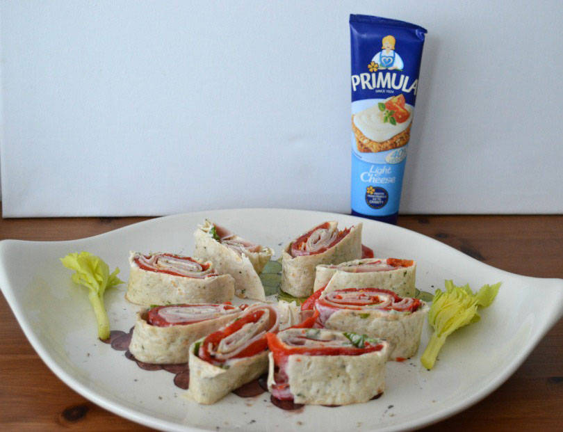 Pinwheel sandwiches using primula
