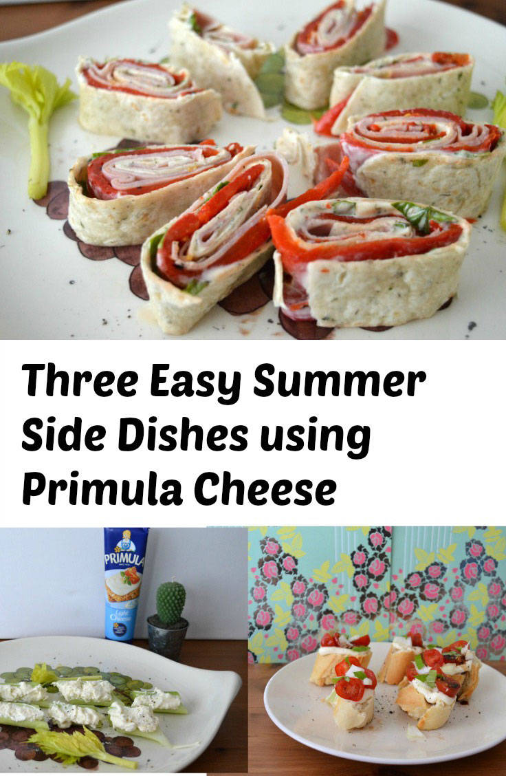 Three easy summer sides using primula cheese