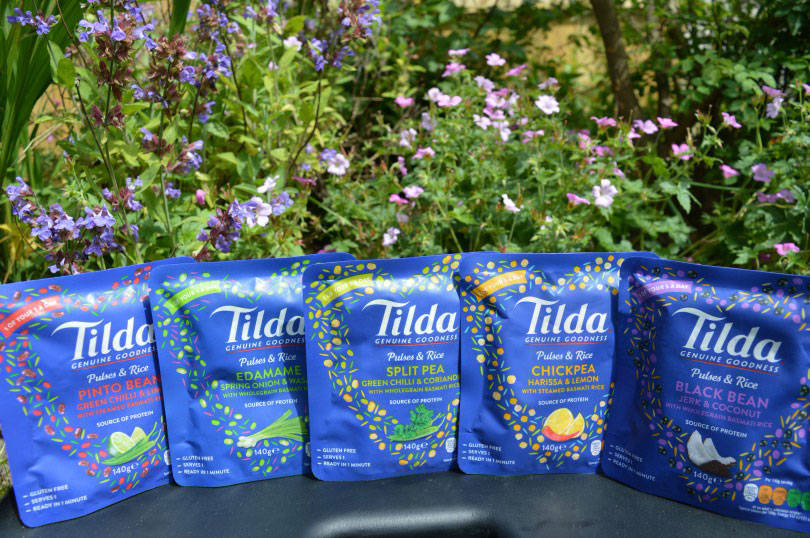 Tilda rice and pulses pouches
