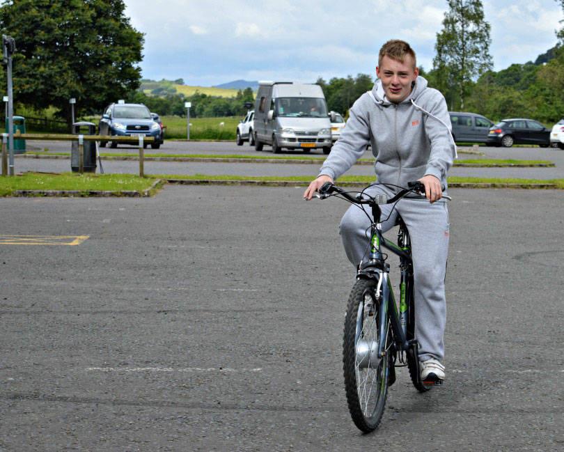 Trying an electic bike