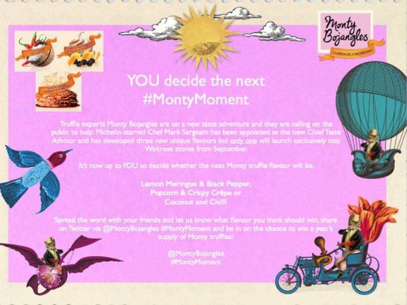 Help pick the next Monty bojangles flavour