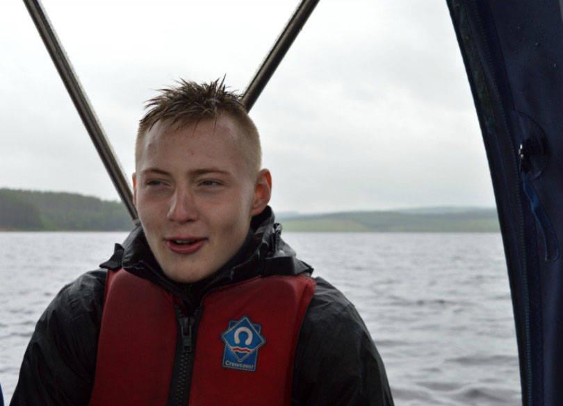 On the boat at kielder