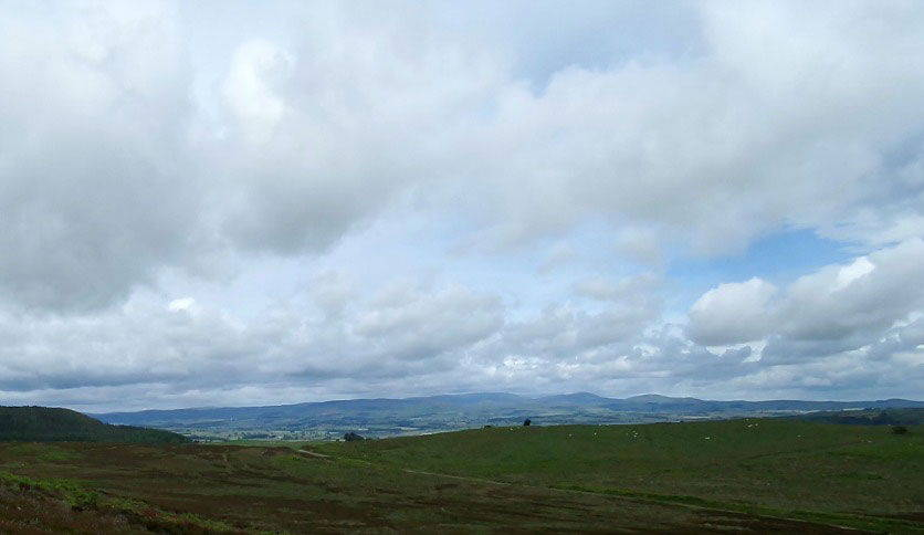 view from simonside hill in the cheviots