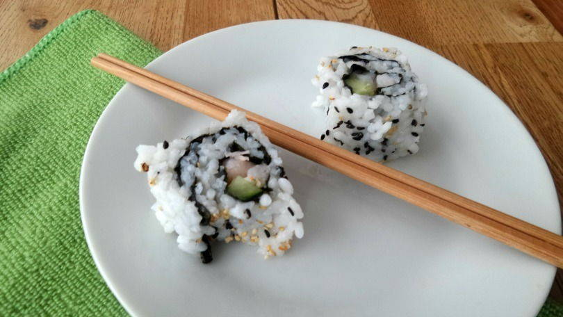 Iside out nori rolls
