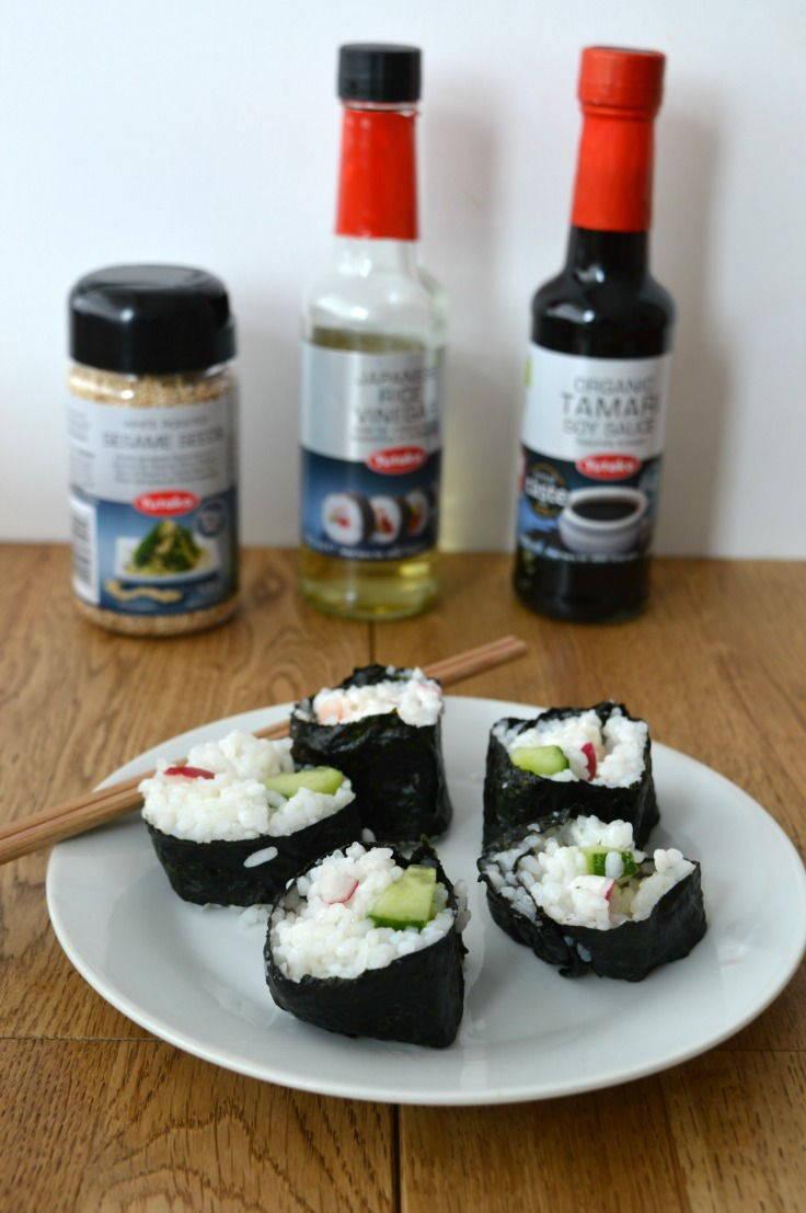 Nori rolls made using yukata sushi
