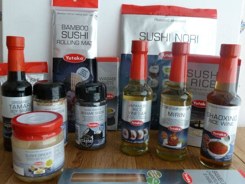 Yukata sushi ingredients