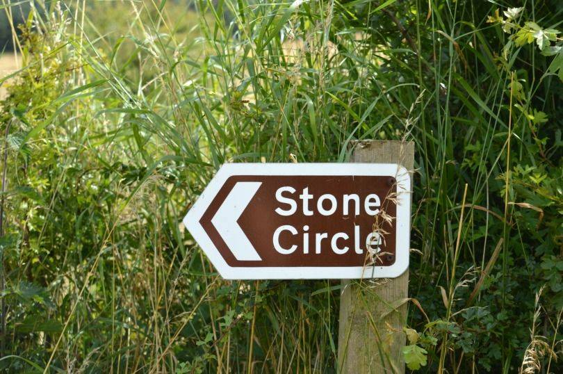 Sign to get to standing stones at duddo