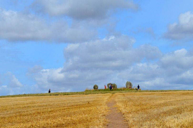 Approaching Duddo stone circle