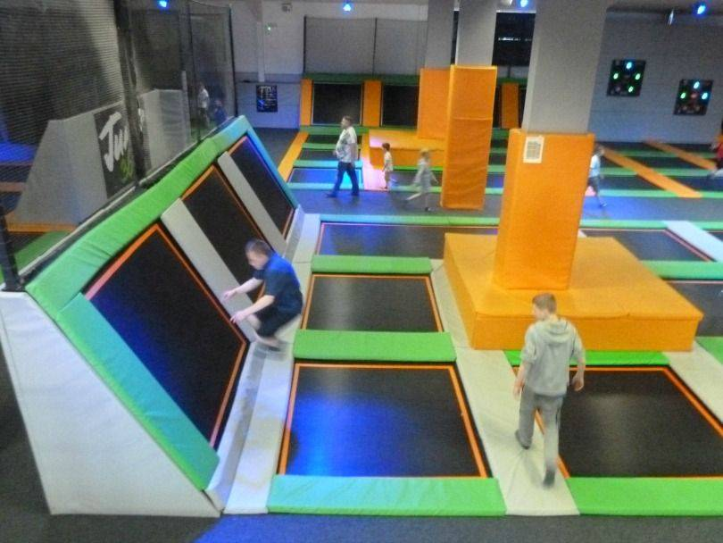Inside Jump 360 trampoline park in Stockton