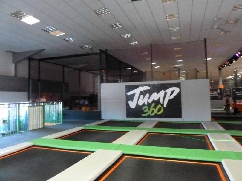 Entering into Jump 360, a trampoline park near Stockton