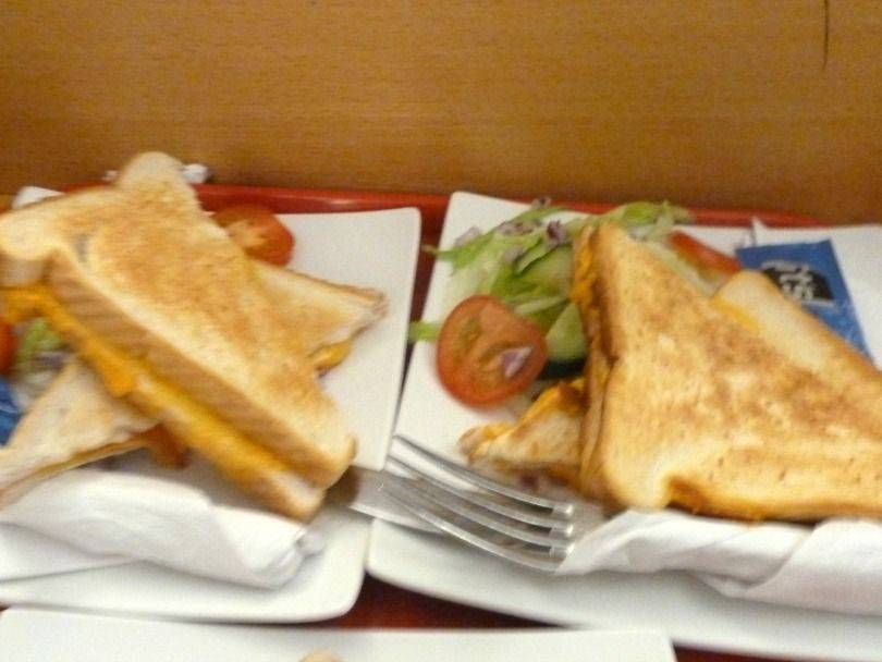 toasted sandwiches at Jump 360