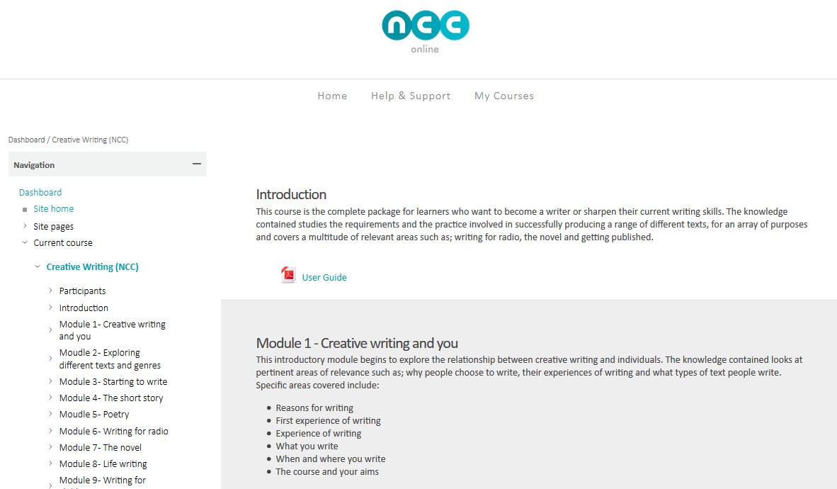 ncc online courses