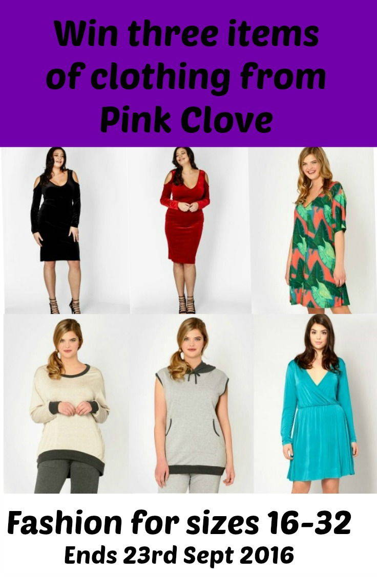 Pink clove giveaway, win three items for clothing sizes 16-32