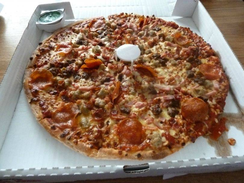 Papa John's lower fat cheese pizza