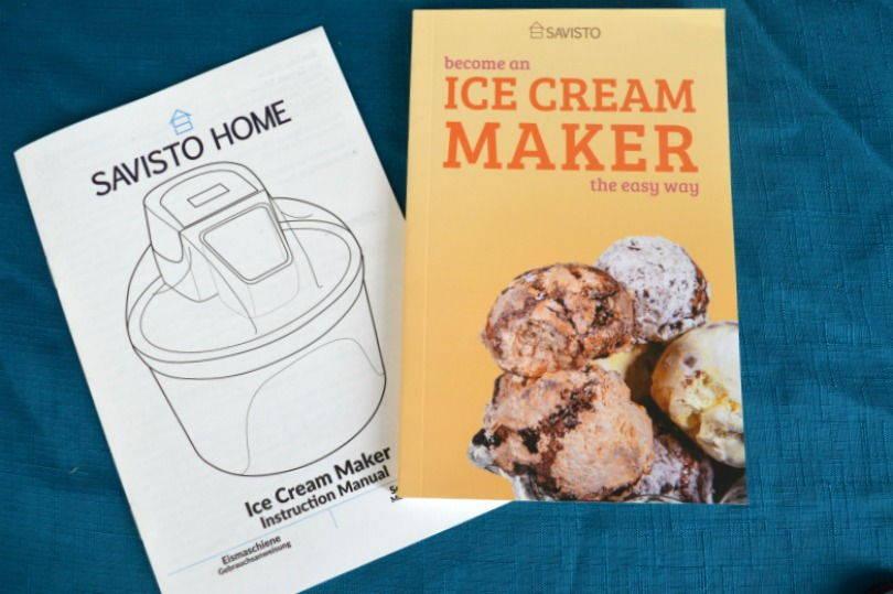 savisto ice cream maker book