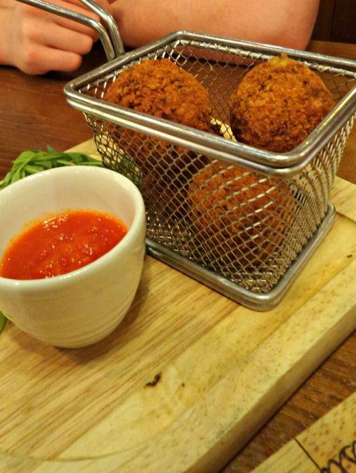 Arancini Fungi at Bella Italia