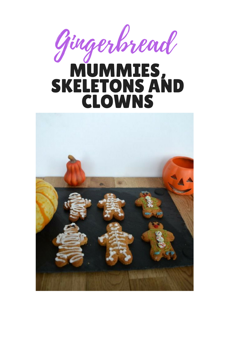 Gingerbread mummies, skeletons and clowns. A perfect Halloween bake