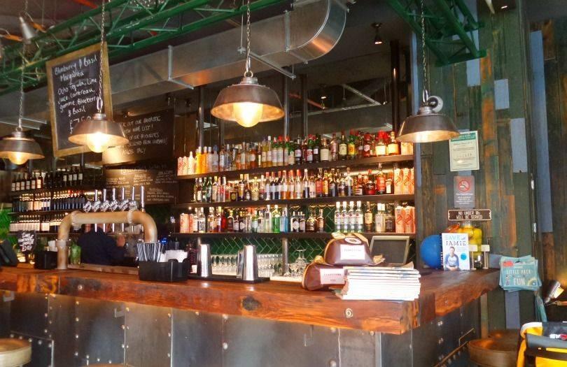 Jamie's Italian Newcastle - the bar area