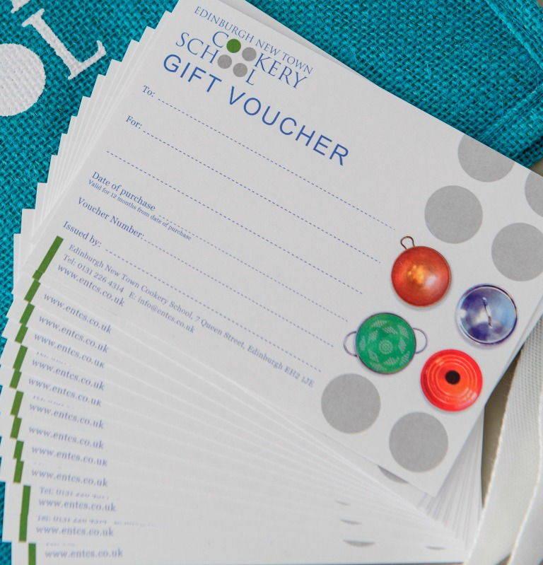 Edinburgh New Town Cookery School vouchers