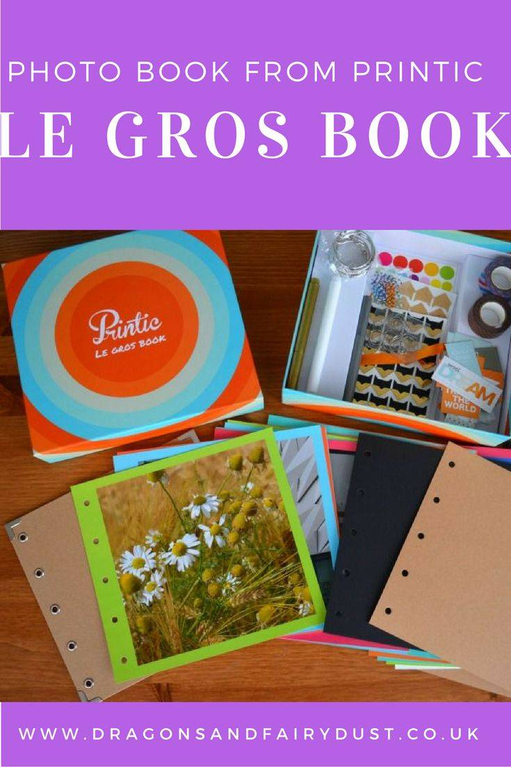 Le Gros Book from Printic is a photo book which you can customise yourself. Add stickers, tape, paper clips and other things to make it your own