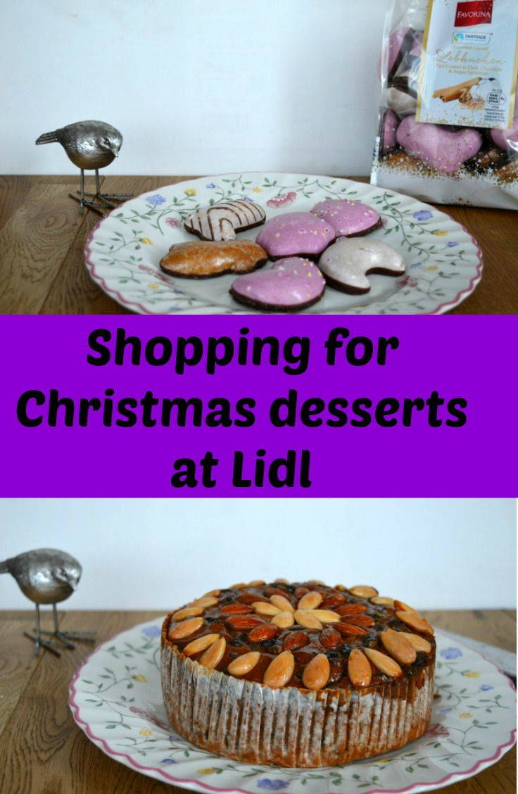 Shopping for Christmas desserts at Lidl. Trying out some of the range of products