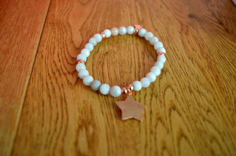 ChloBo grey agate star bracelet