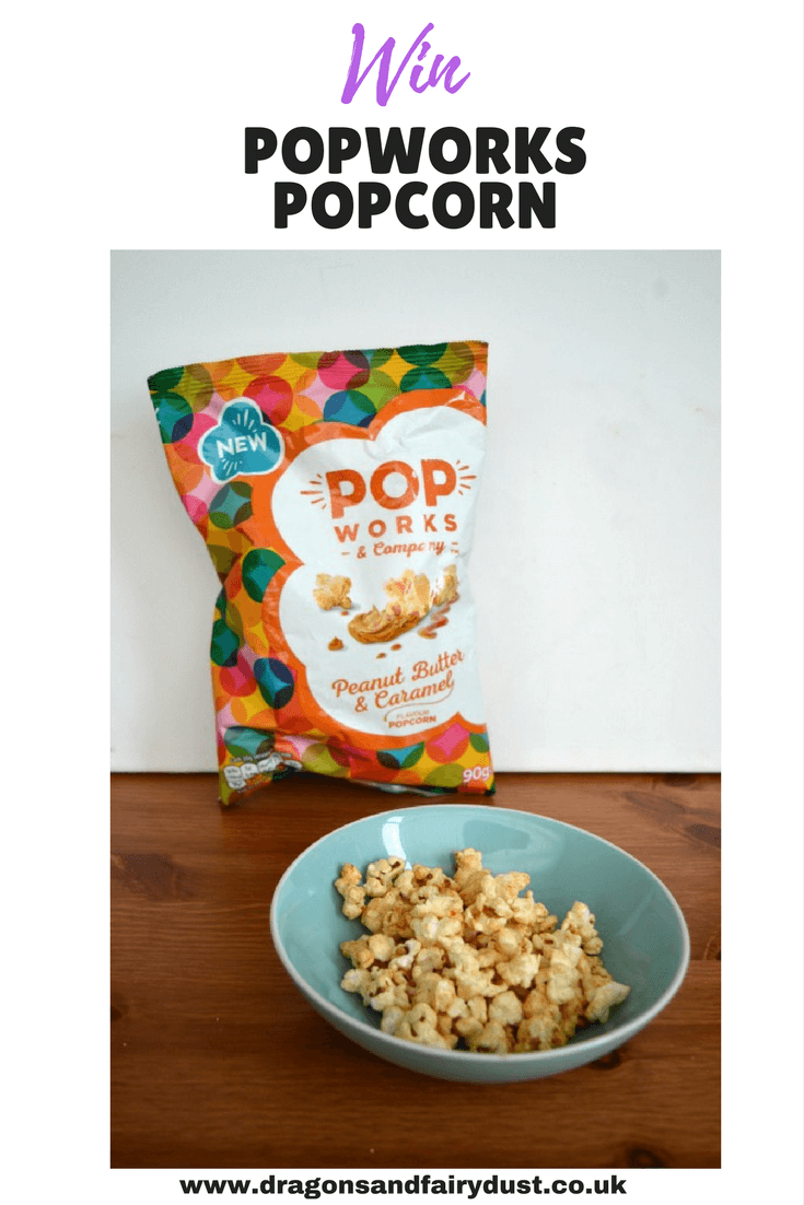 Pop Works Flavoured popcorn comes in four new flavours, apple pie, sticky toffee pudding, peanut butter and caramel and sweet and salty. Enter the giveaway to win a selection of flavours