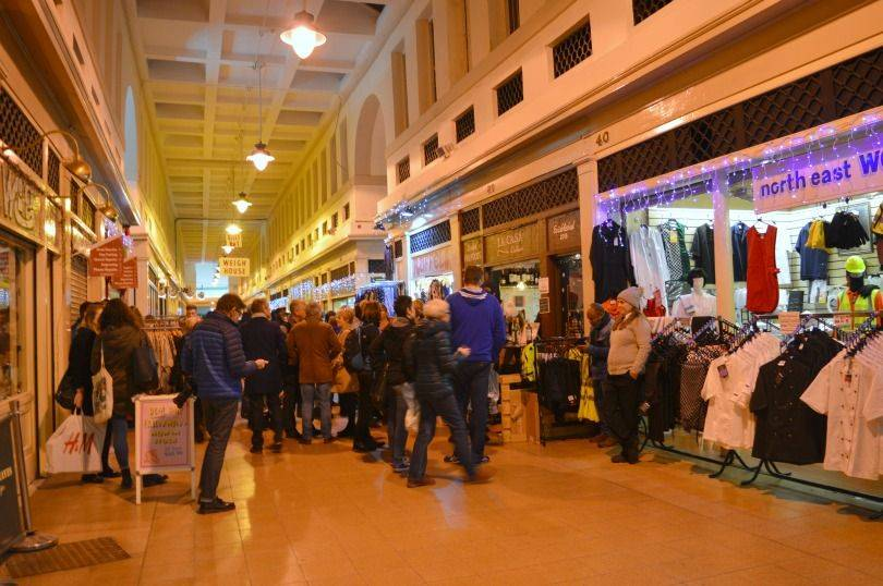 Grainger market christmas market night