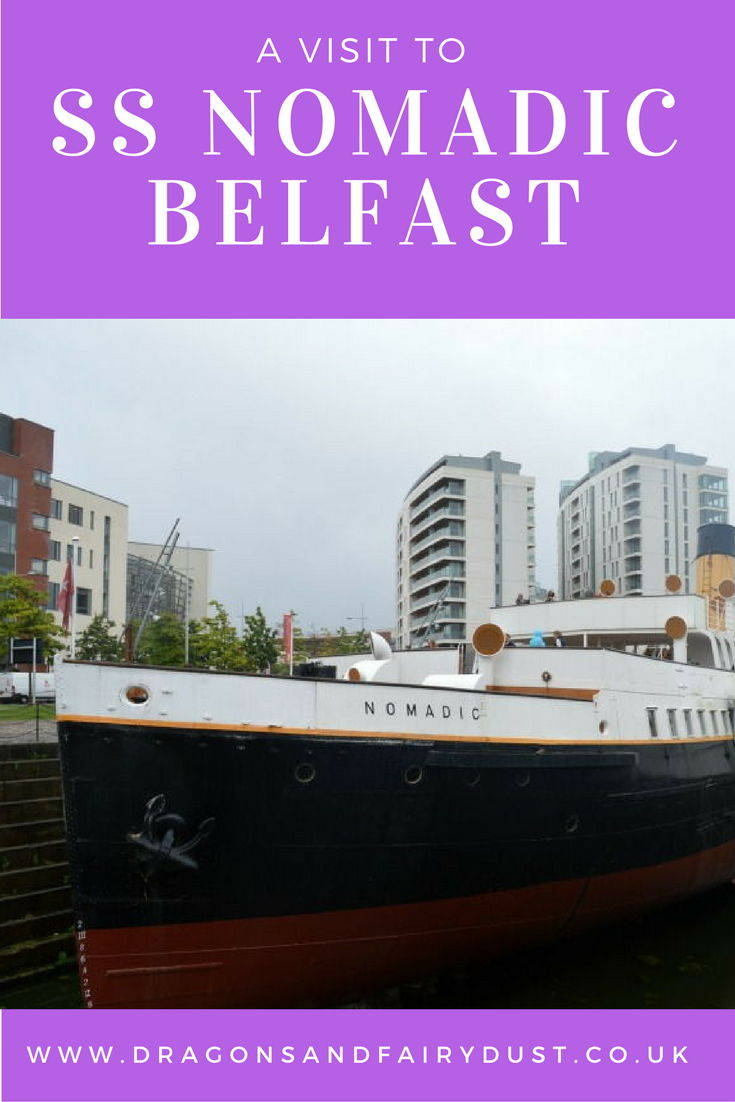 Days out in Northern Ireland: Visiting the SS Nomadic in Belfast which is in the Titanic Quarter and can be seen as part of the Titanic Experience.
