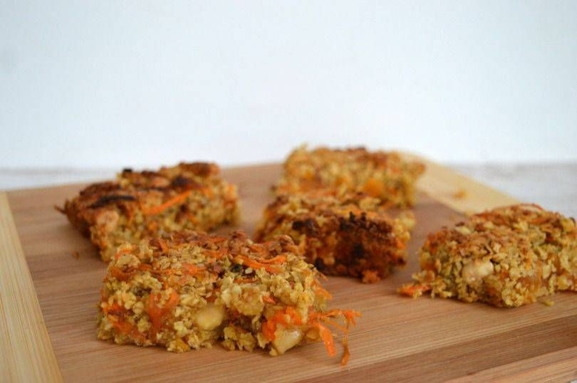 Carrot and apricot flapjacks