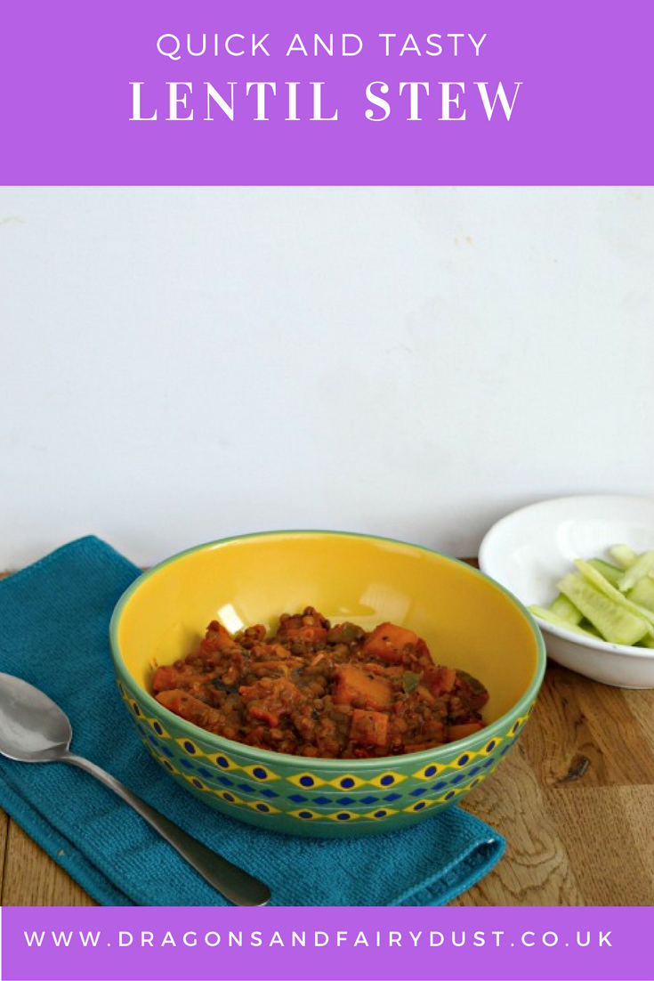 A quick and easy lentil stew. Made with puy lentils and full of flavour. Great for weight loss